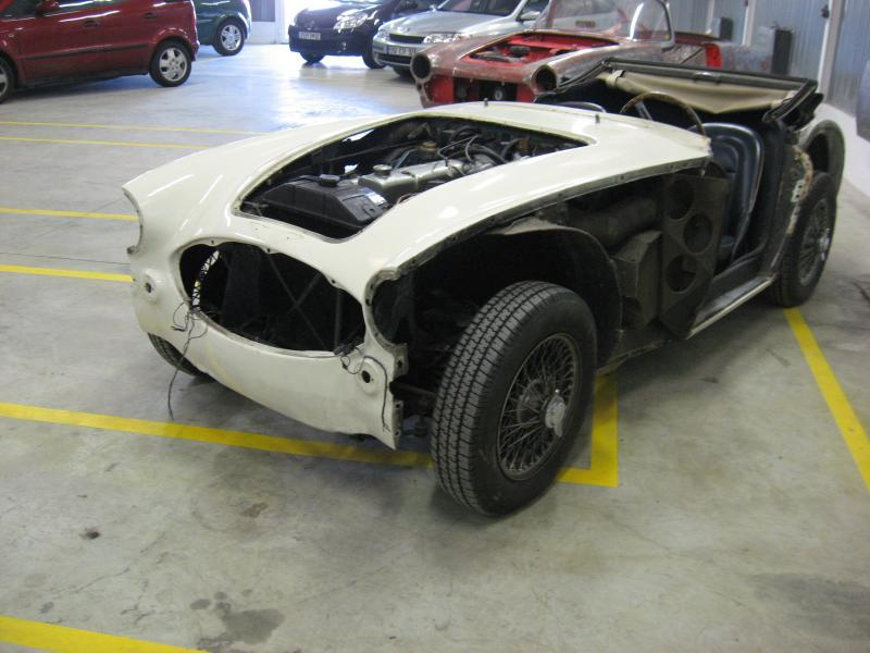 devis carrosserie, devis peinture auto, carrosserie Austin Healey 3000