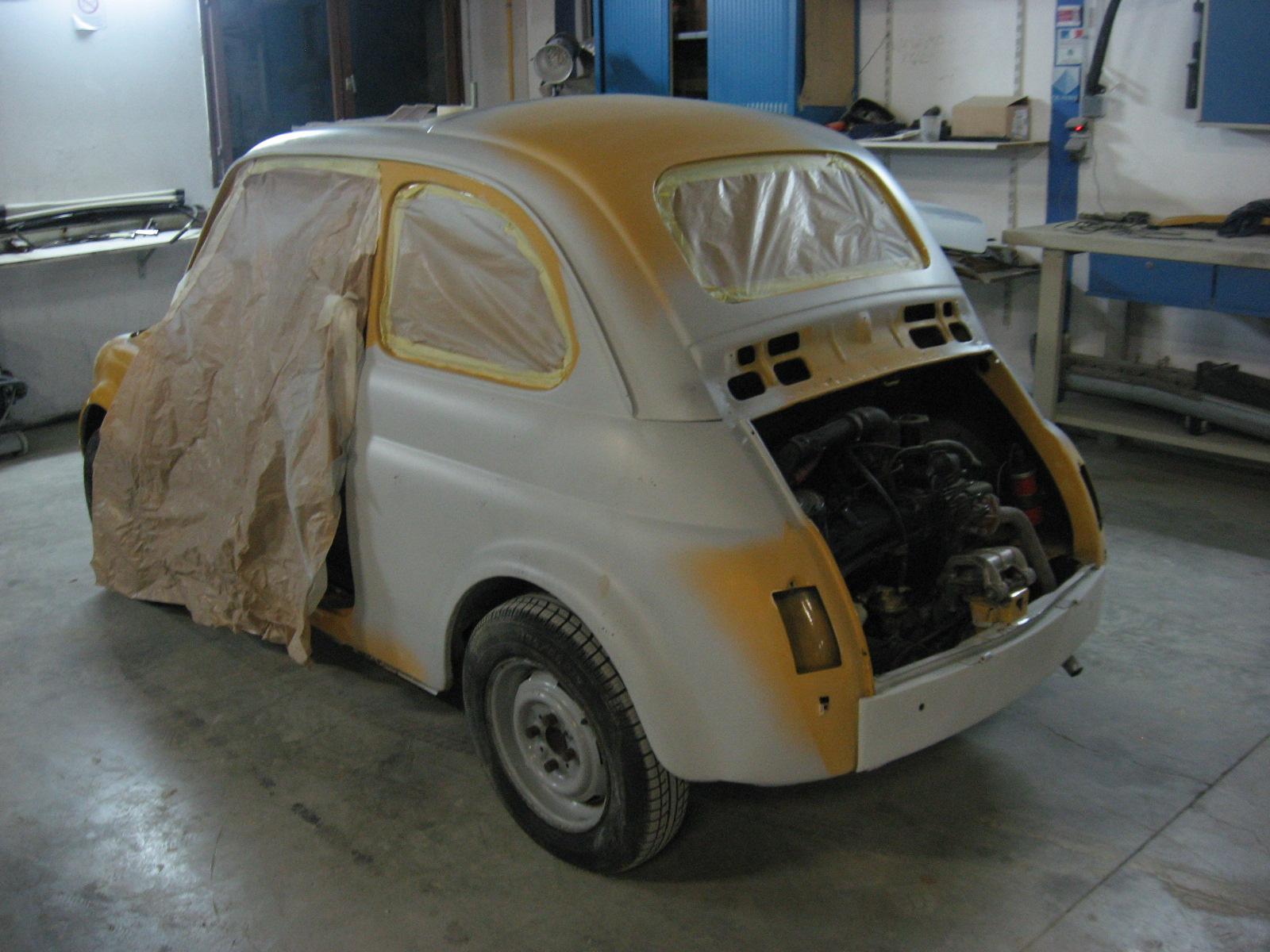 devis carrosserie, devis peinture auto, carrosserie restauration fiat500