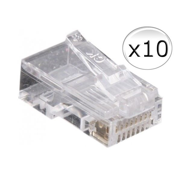 Connecteur RJ45 - Cat.5e - Non Blindé (Sachet de 10)