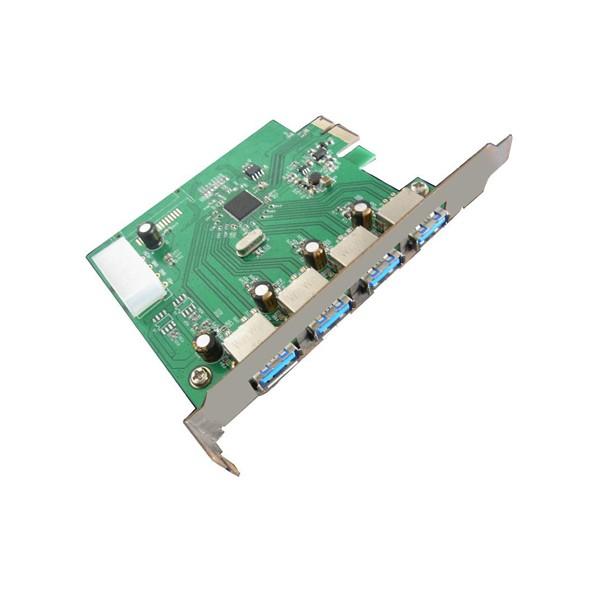 Carte PCI-Epresss - USB 3.0 - 4 Externes