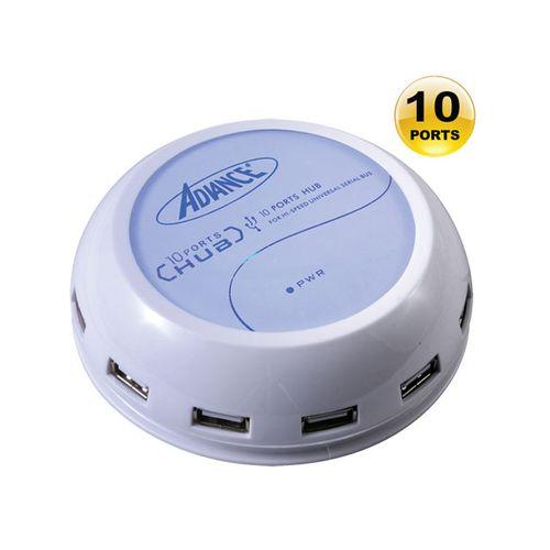 Advance - 10 Ports USB 2.0 - Réf. HUB-900UW