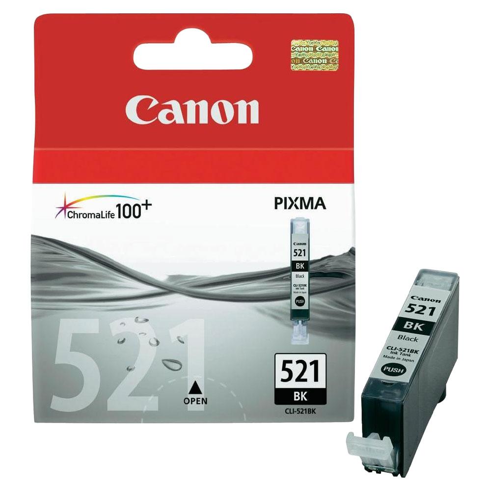 Cartouche Canon CLI-521BK Noir - 2933B001
