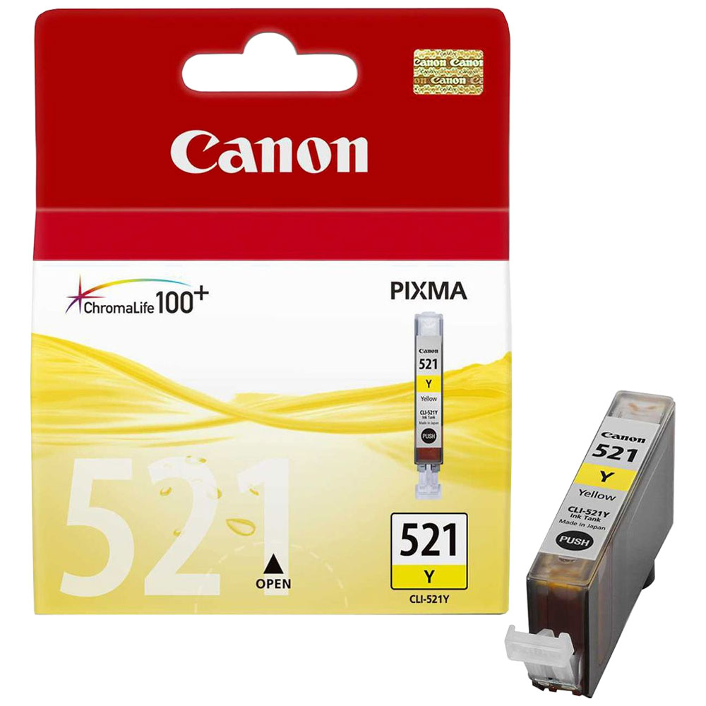 Cartouche Canon CLI-521Y Yellow - 2936B001