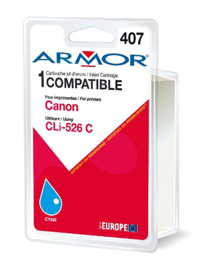 Cartouche Armor CLI526C Cyan - K12562