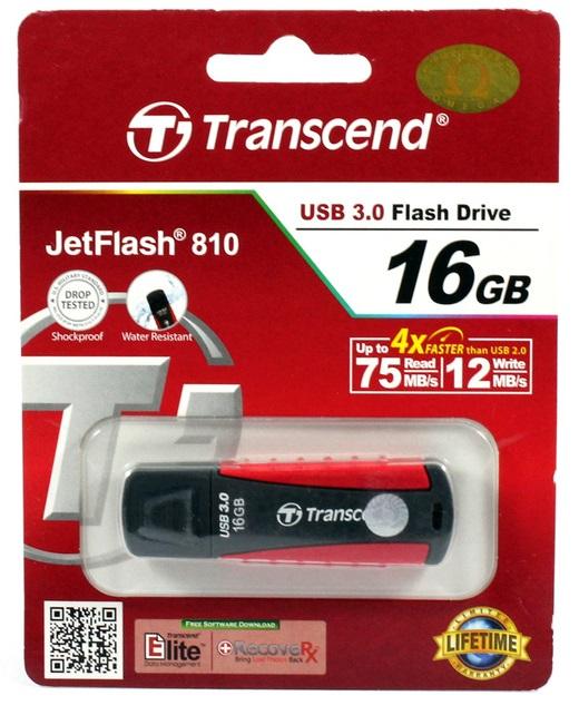 Transcend JetFlash 810 - Clé USB 3.0 - 16Go - TS16GJF810