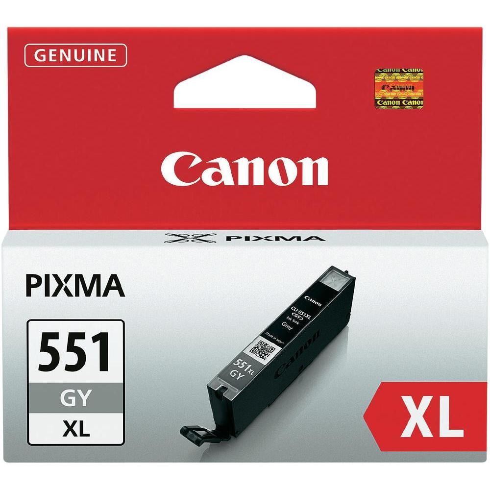 Cartouche Canon CLI-551GY XL Gris -  6447B001AA