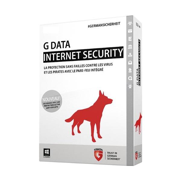 G-DATA Internet Security 3 Postes - 1 An - Dématérialisée (PROMO)