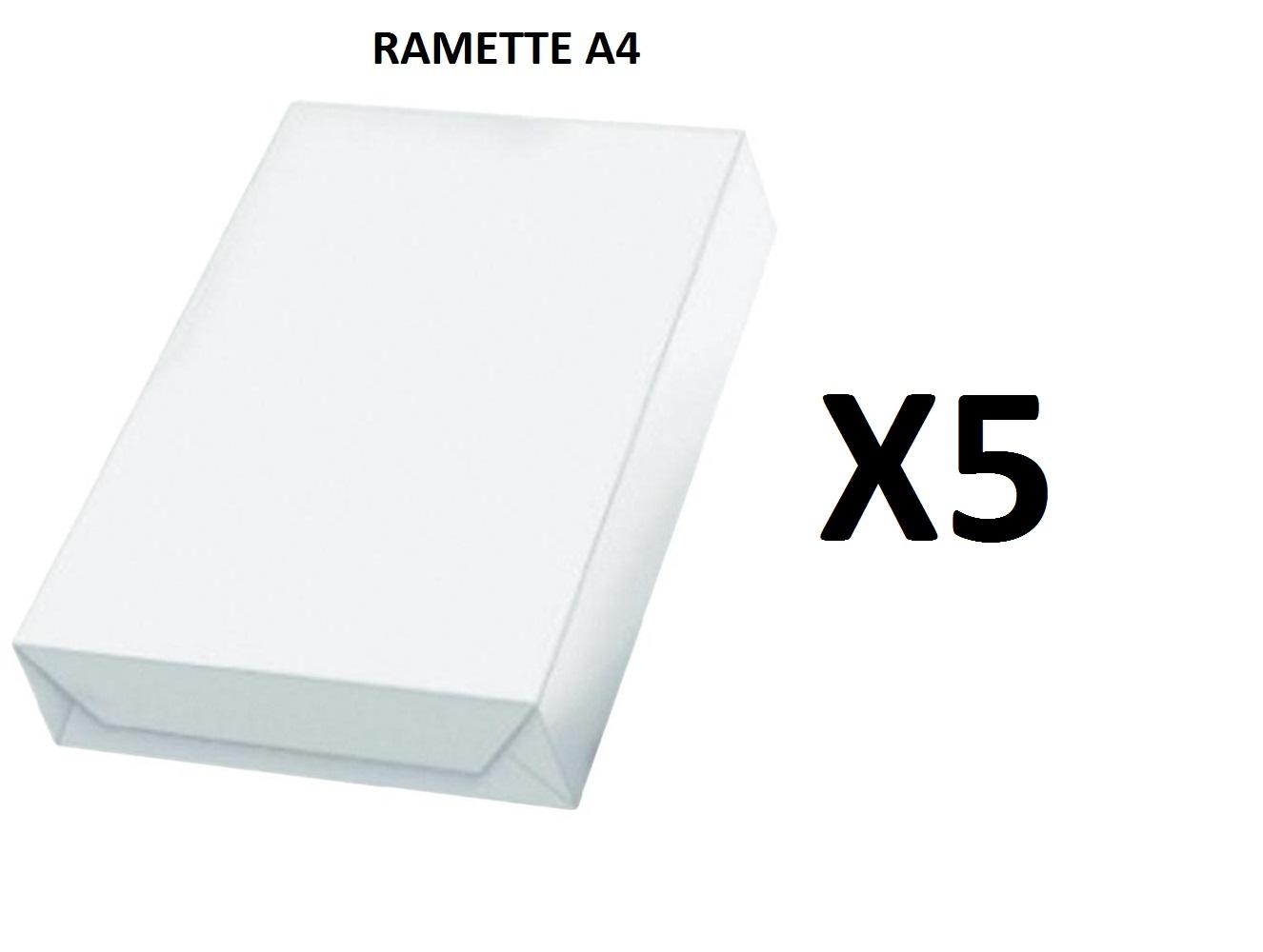 Ramette Papier A4 - 80Grs - Blanc - 500 Feuilles - X05