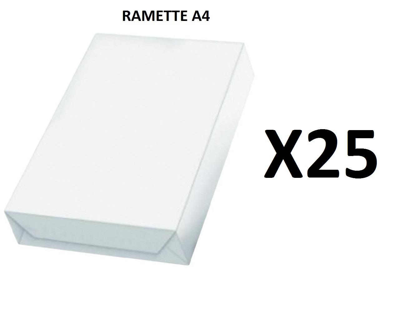 Ramette Papier A4 - 80Grs - Blanc - 500 Feuilles - X25