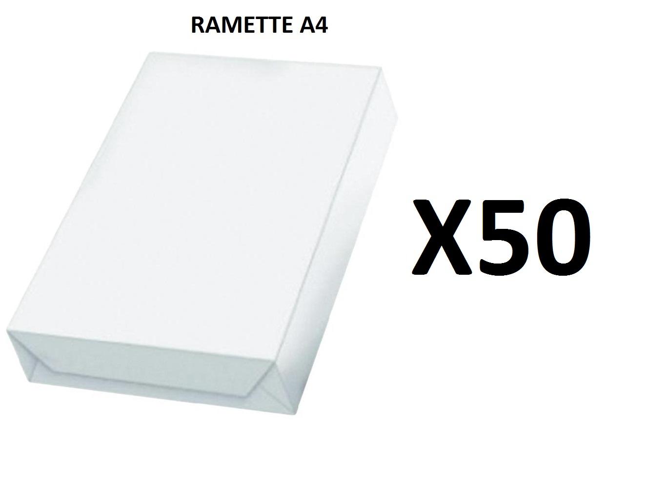 Ramette Papier A4 - 80Grs - Blanc - 500 Feuilles - X50