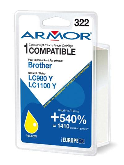 Cartouche Armor LC980Y / LC1100Y - Yellow