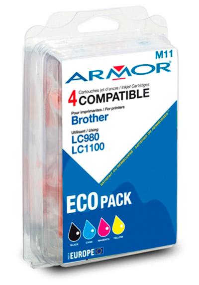 Pack Cartouche Générique LC980BK/LC1100BK+C+M+Y
