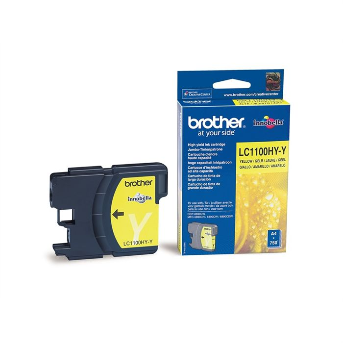 Cartouche Brother LC1100HY-Y - Yellow