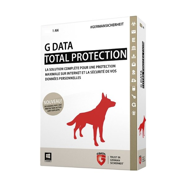 G-DATA Total Protection 1 Poste - 1 An - DVD