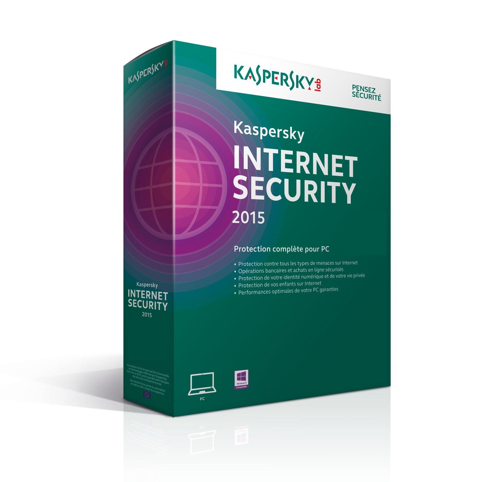 KASPERSKY Internet Security 3 Postes - 1 An - DVD