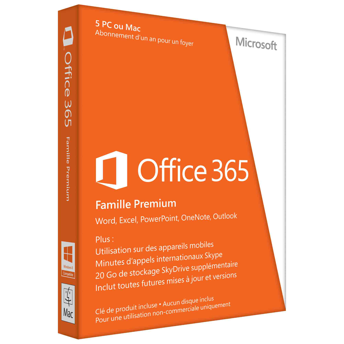 Office 365 Famille Premium - 5 Postes / 1 an