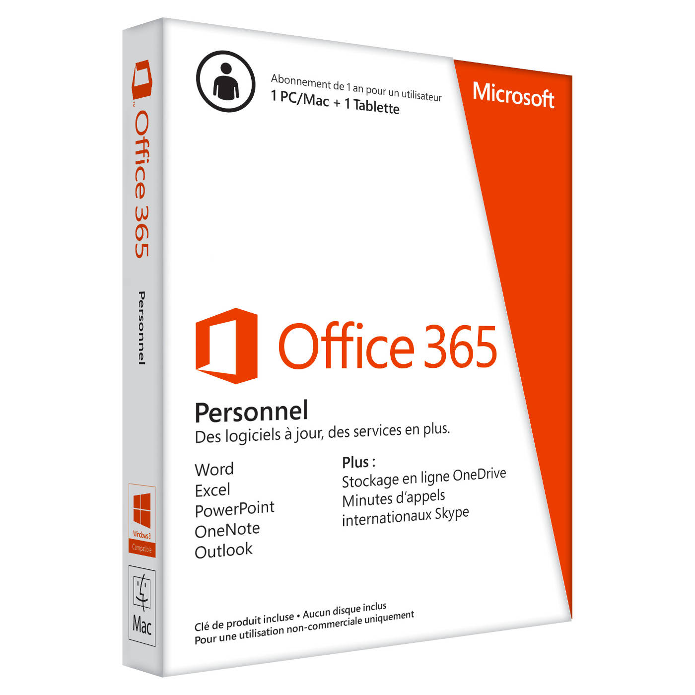 Office 365 Personnel - 1 Poste / 1 an - Téléchargement