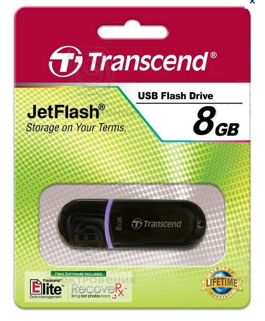 Transcend JetFlash 300 - Clé USB 2.0 - 08Go - TS8GJF300