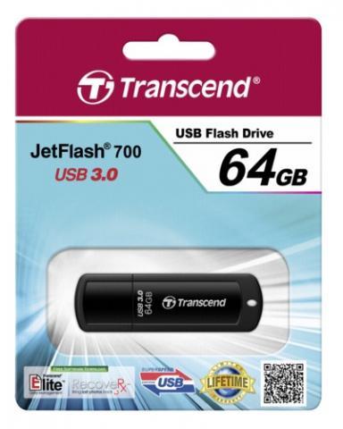 Transcend JetFlash 700 - Clé USB 3.0 - 64Go - TS64GJF700