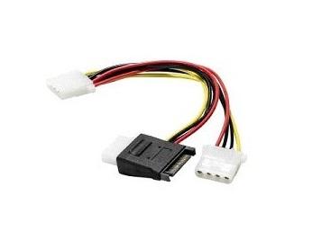 Câble S-ATA (M) > 3X Molex (M) - 15 cms