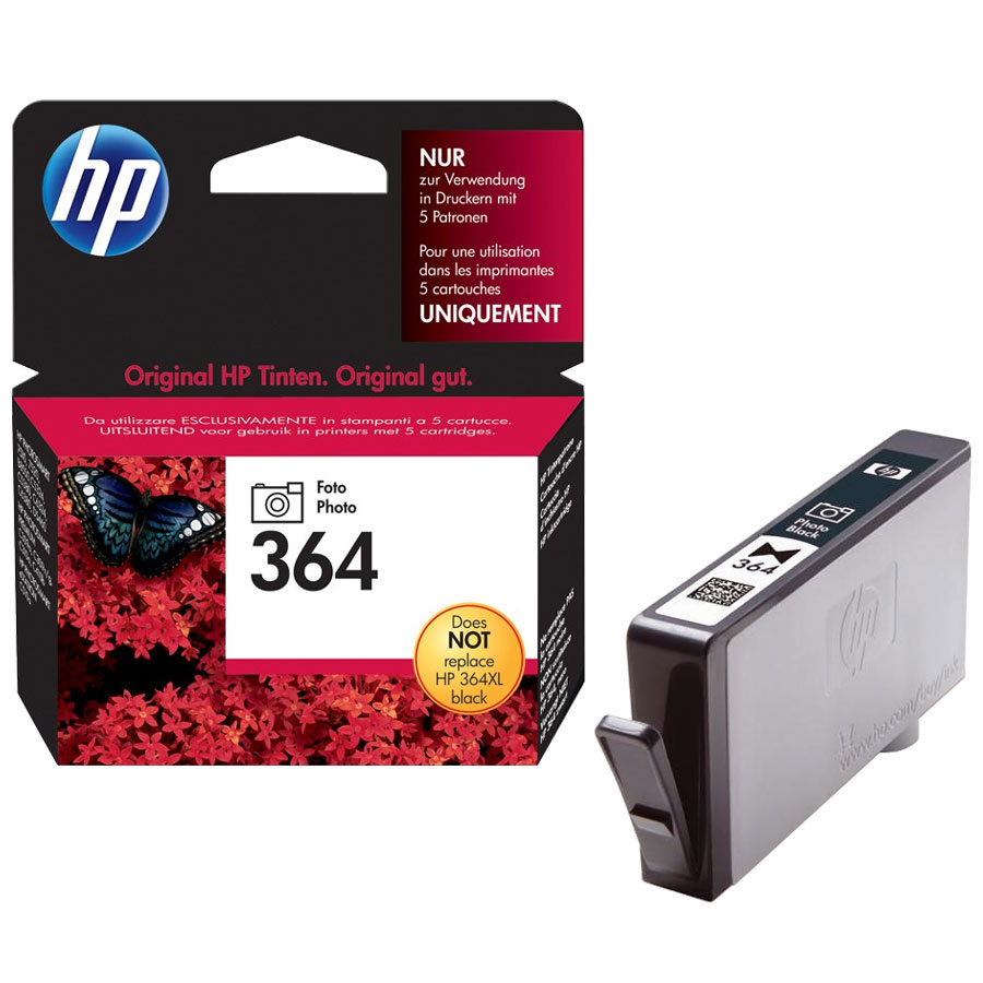 Cartouche HP 364 Black Photo - CB317EE