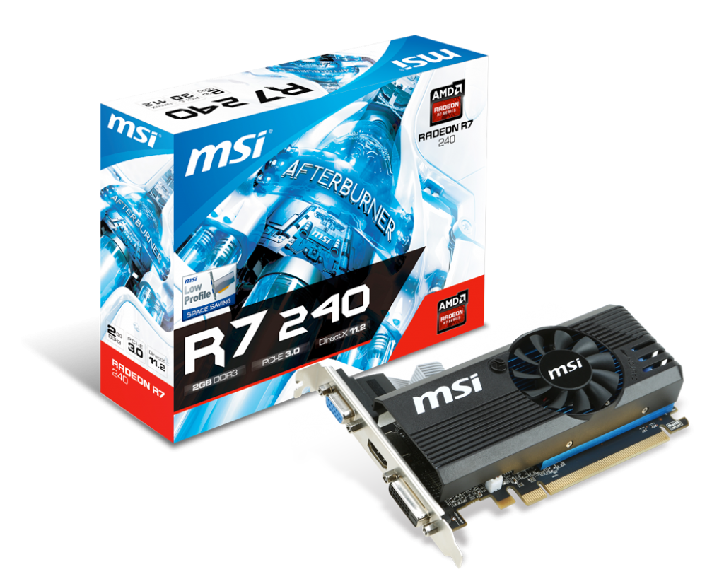 Carte Video PCI-E - Radeon R7 240 - 2Go - DDR3