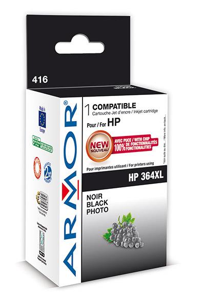 Cartouche Armor HP 364XL PBK - Black Photo - K12572