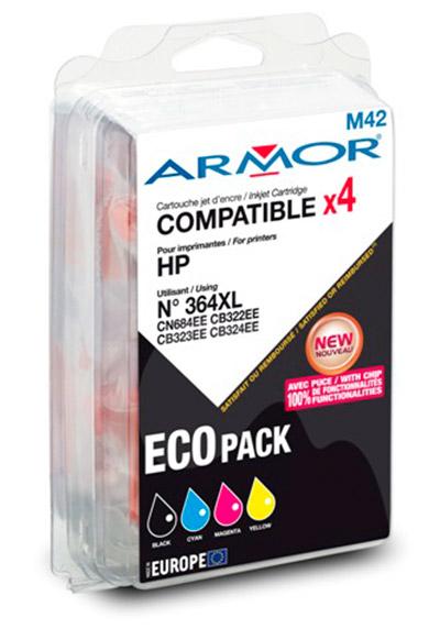 Pack Cartouche ARMOR HP 364XL BK+C+M+Y