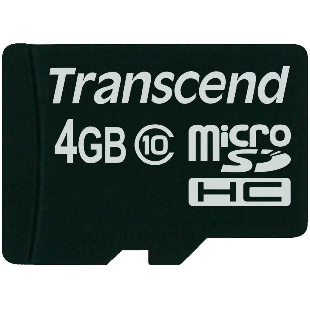 Transcend - Micro SDHC - 04 Go - Classe 10