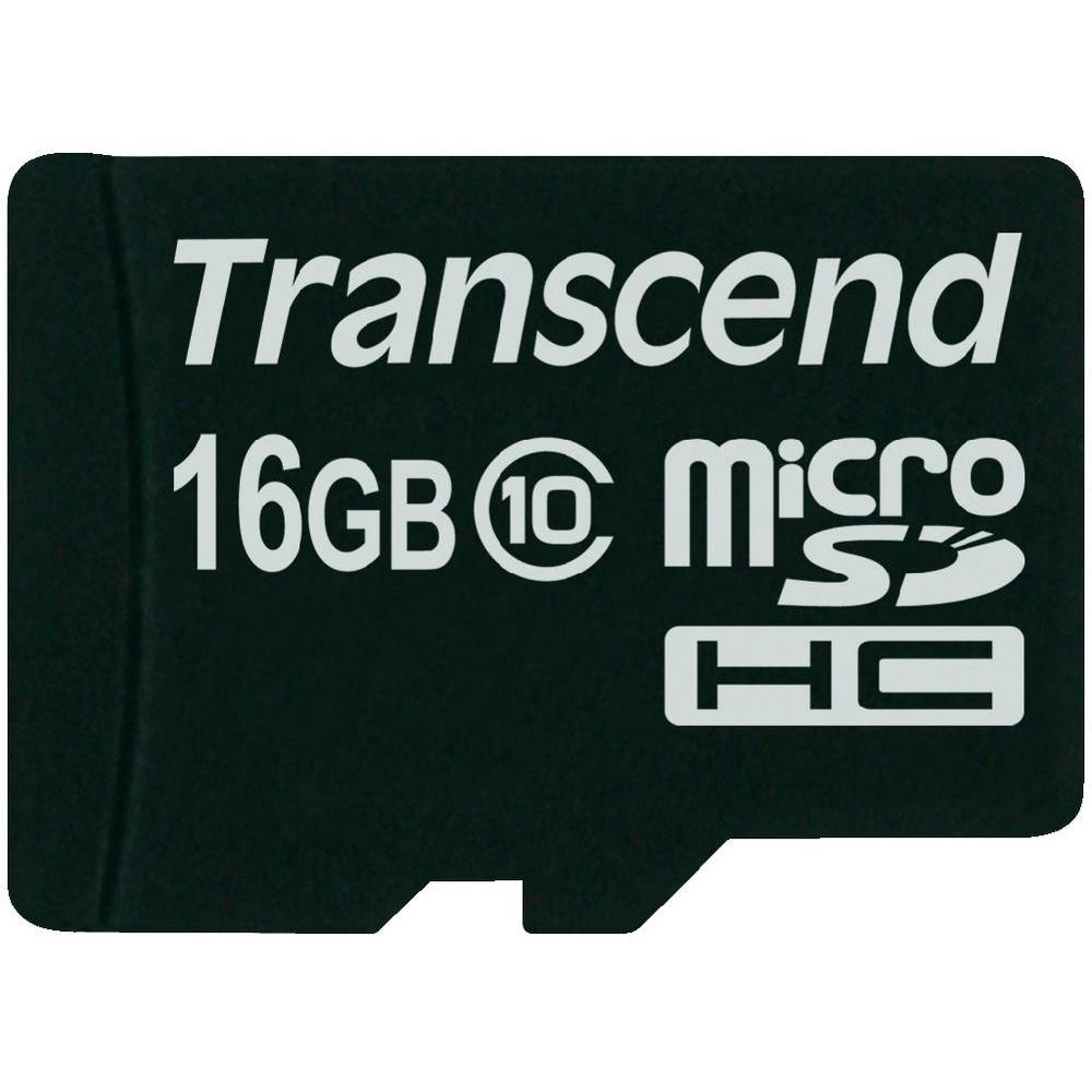 Transcend - Micro SDHC - 16 Go - Classe 10