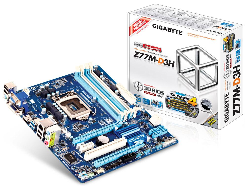 Carte-mère GIGABYTE GA-Z77M-D3H - M.ATX - Socket 1155