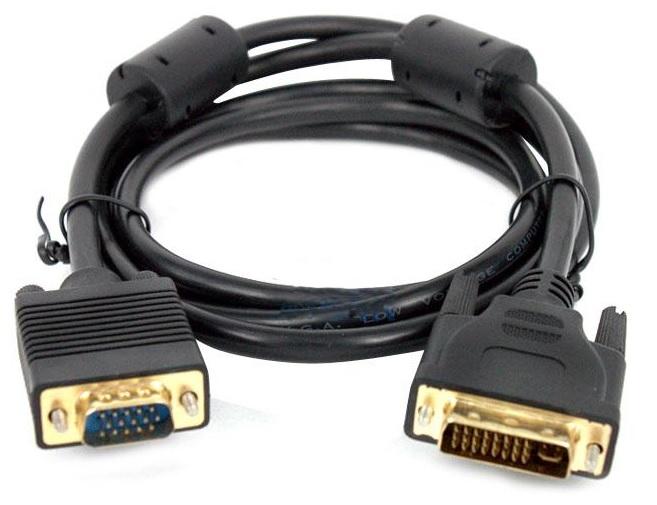 Câble DVI-I 24+5 (M) Vers VGA (M) - 1.8 Mètre
