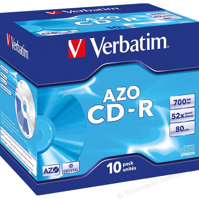 Boite de 10 CD-R Verbatim - 700 Mo