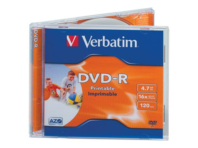 DVD-R Verbatim - 4.7 Go - Imprimable