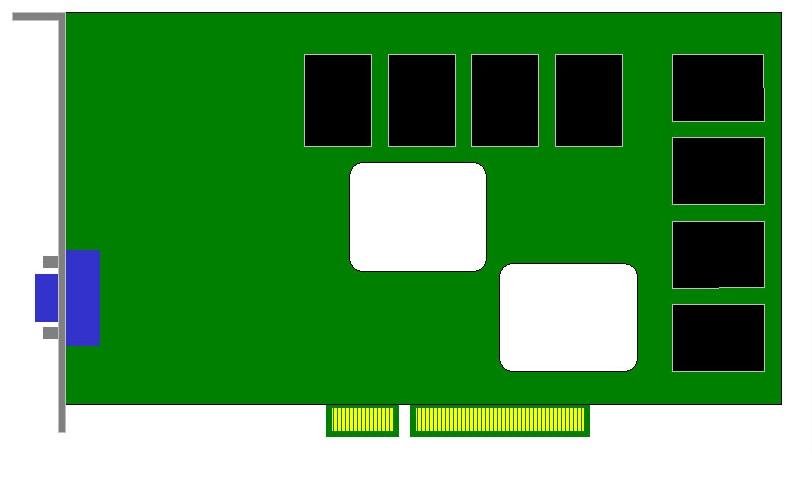 Carte Video AGP 8X - 128Mo - Standard