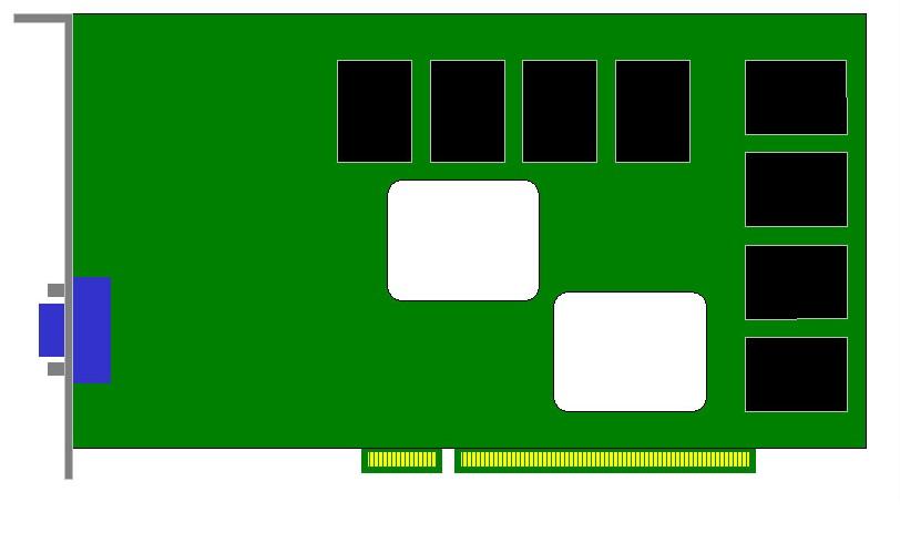 Carte Video PCI-E 16x - 1Go - Standard