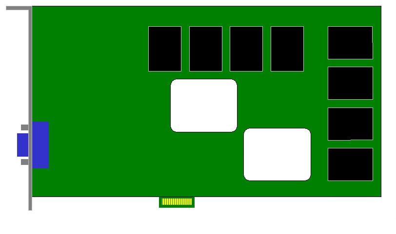 Carte Video PCI-E 1x -  Standard