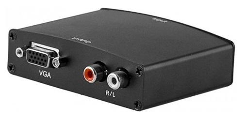 Convertisseur HDMI Vers VGA + 2X RCA (Audio)