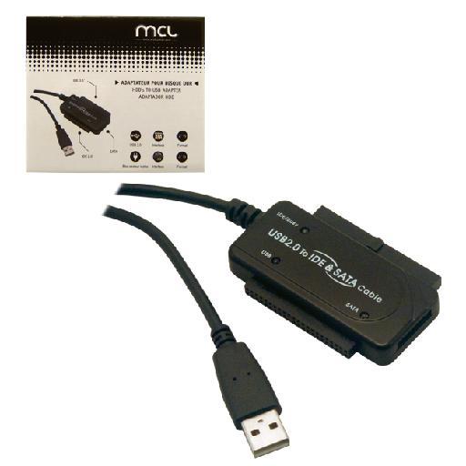 Adaptateur USB 2.0 Vers S-ATA / IDE