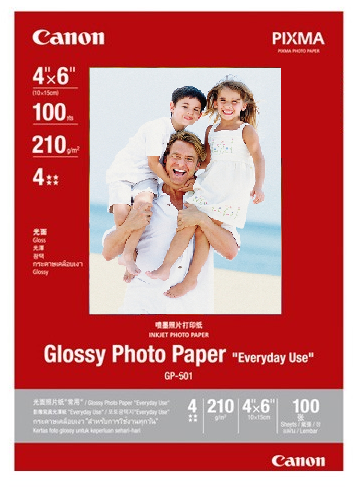 Papier Photo - A6 - Brillant - 210g/m² - 100 Feuilles