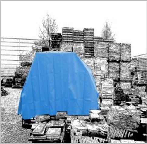 Bache plate 570 gr m for Enrouleur bache piscine rolltrot